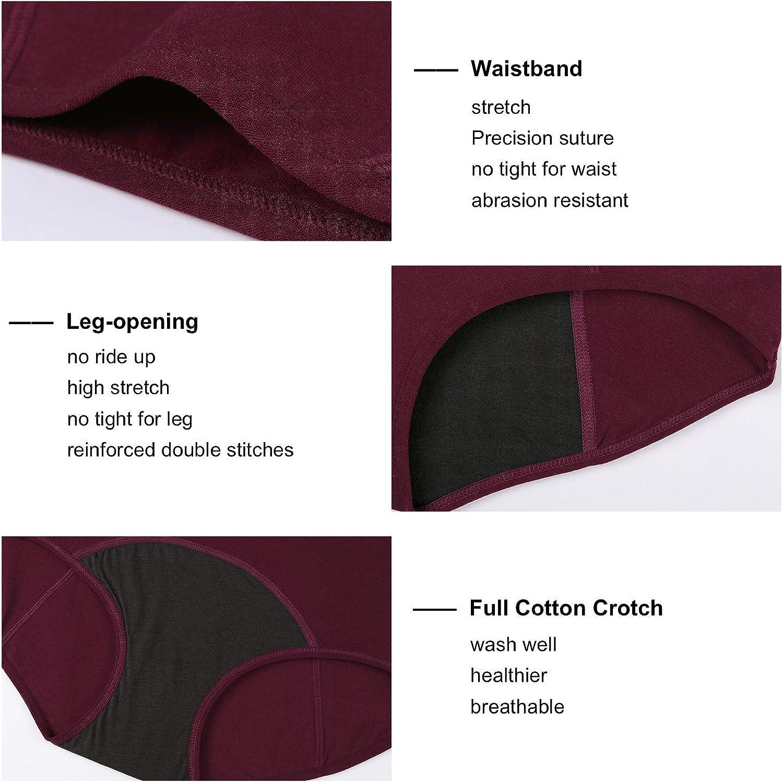 INNERSY Womens Menstrual Underwear Cotton Period Pants Heavy Flow Leakproof Knickers Pack of 3