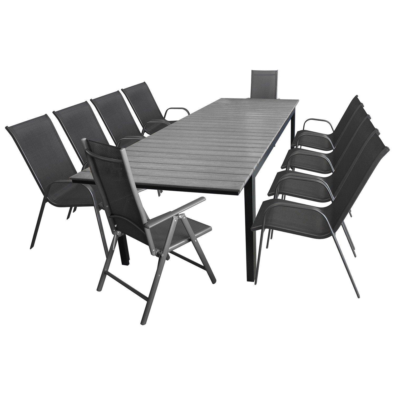 11tlg. Gartengarnitur Gartenmöbel Set Sitzgarnitur Sitzgruppe ...