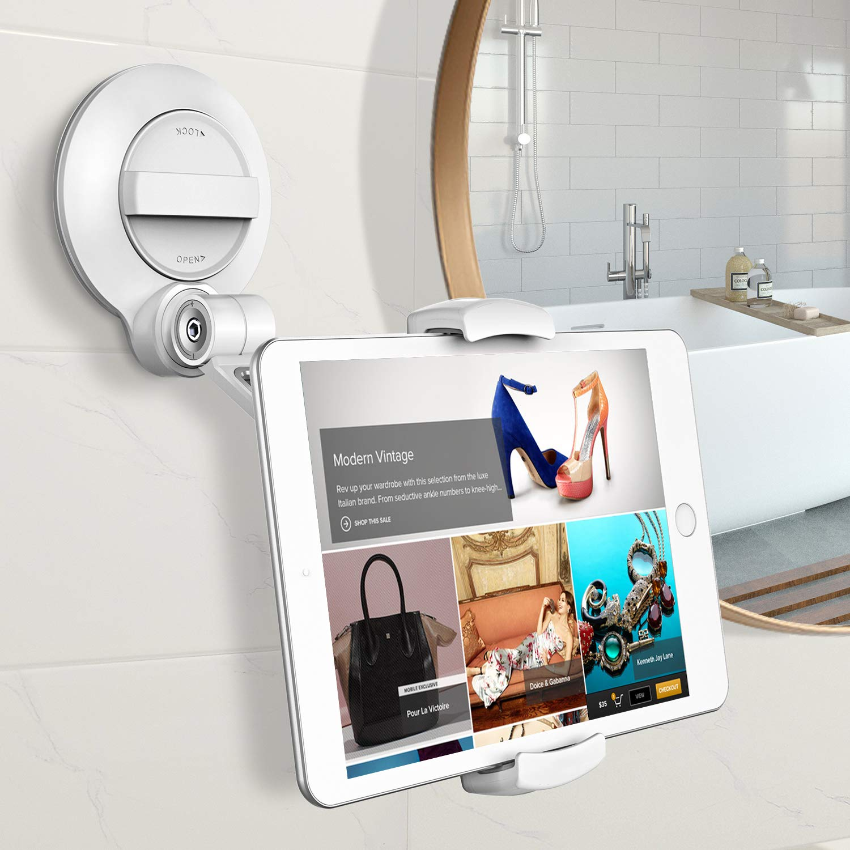 67578c9ebc25 Cocoda Soporte Tablet, Universal Soportes Movil iPad Mesa con Ventosa  Grande Más Fuerte, Porta Sujeta Tablets para  Baño/Pared/Cocina/Oficina/Coche, ...
