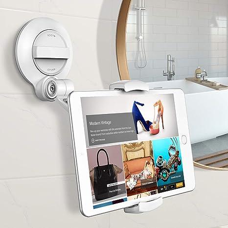 Cocoda Tablet Halterung mit Starkem Saugnapf, 360 °Drehbarer Universeller  Tablet Ständer für iPhone/iPad/Samsung/Fire HD/Phone&Tablet mit 4~11 Zoll,  ...