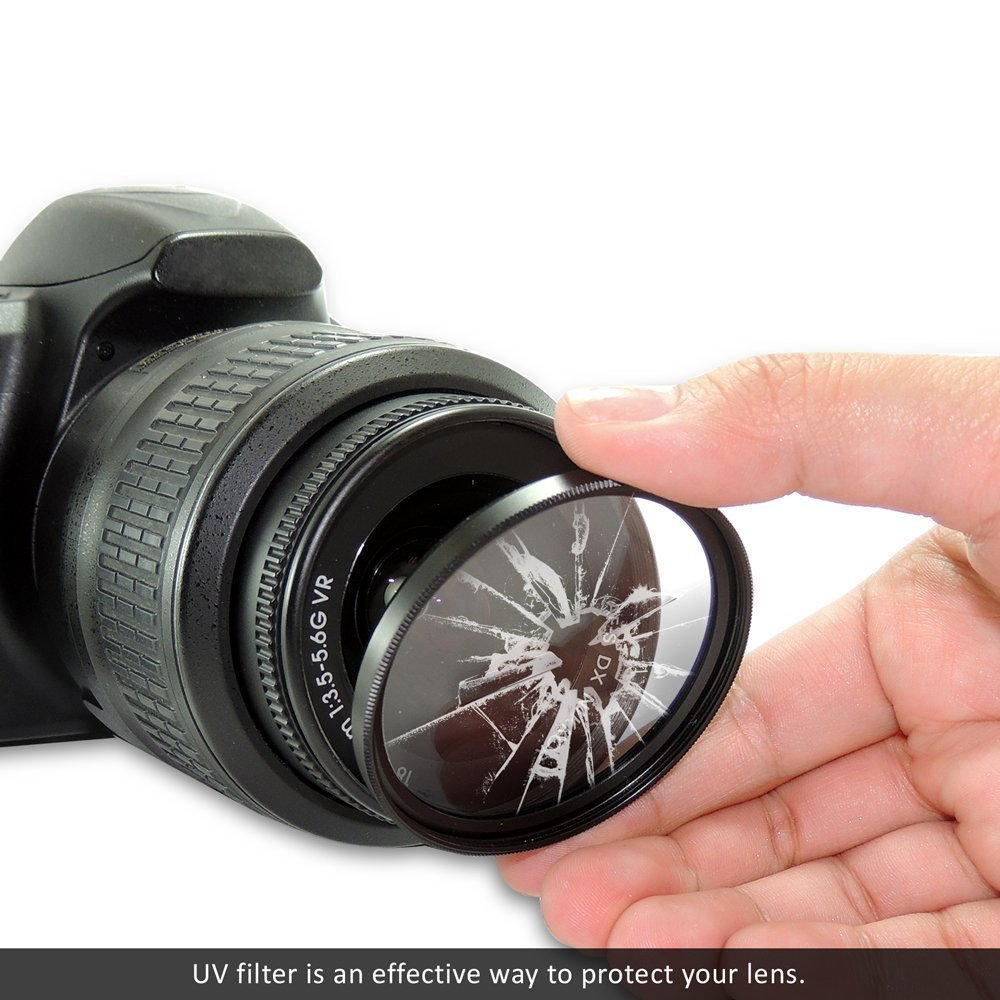 58mm Multi Coated 3 Piece Filter Kit Uv Cpl Fld For Dxn Water Diagram Canon Rebel T5 T6 T6i T7i Eos 80d 77d Cameras With Ef S 18 55mm F 35 56