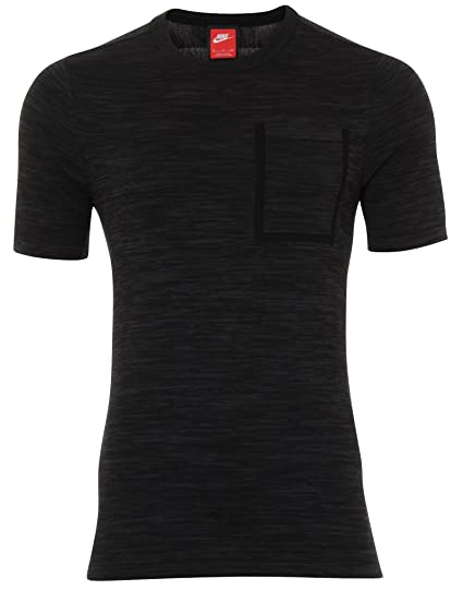 46af17e57 Amazon.com: NIKE Sportswear Tech Knit Black/Grey Mens T-Shirt Size L ...