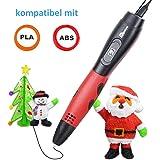 Tipeye 3D Stifte für Kinder und Erwachsene mit OLED Display und 3D Stift Filament PLA 1.75 mm frei, 3D Druckstift Set für Kritzelei, Basteln, Zeichnung, Kunstwerk (06A Rot 3d stift)