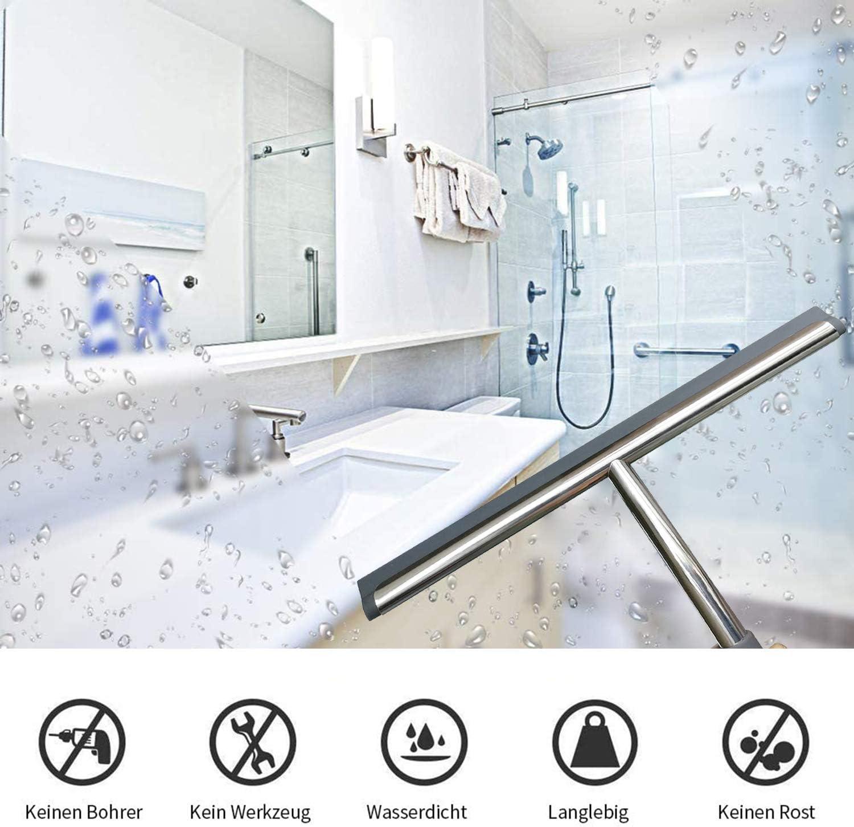 Klaraber - Limpiacristales de ducha de acero inoxidable, limpiaparabrisas de agua para mampara de ducha, espejo de baño, limpiacristales para la limpieza de ventanas y cristales: Amazon.es: Hogar