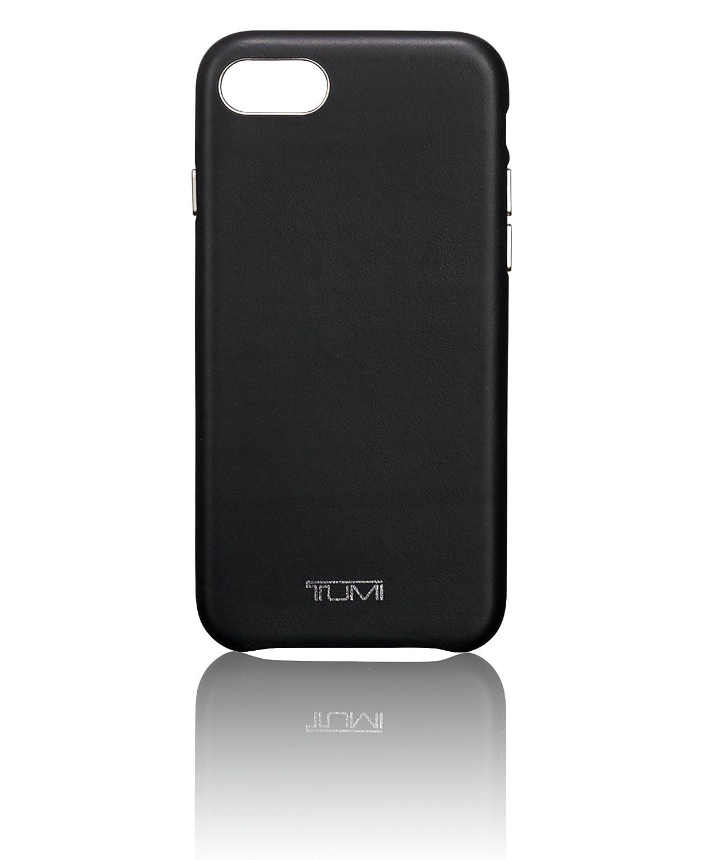 TUMI Leather Wrap Case iPhone 8, Black, One Size (Model:0114230D) TUMIC
