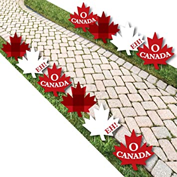 Amazon Com Canada Day Maple Leaf Lawn Decorations Outdoor