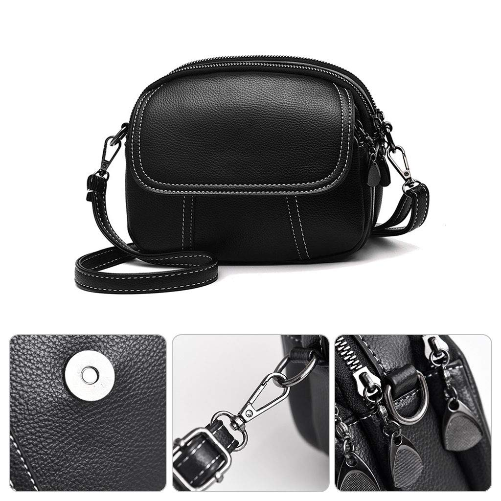 Yearkala Ladies Faux Leather Handbags PU Shoulder Bag Small Flap Crossbody Bags For Women Messenger Bags