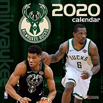 JF Turner NBA Milwaukee Bucks Calendrier 2020 30 x 60 cm
