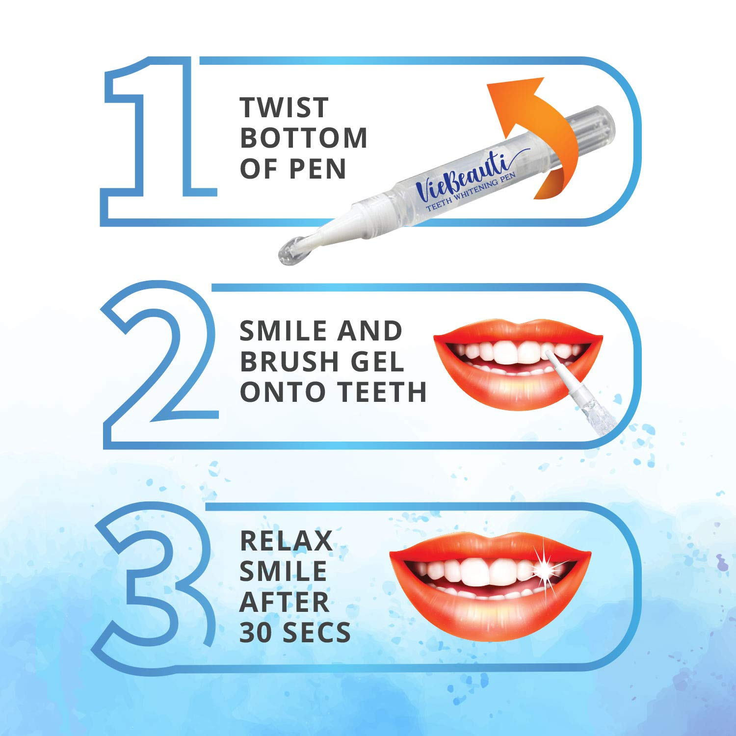 VieBeauti Teeth Whitening Pen2 Pcs 20 Uses Effective Painless No Sensitivity TravelFriendly Easy to