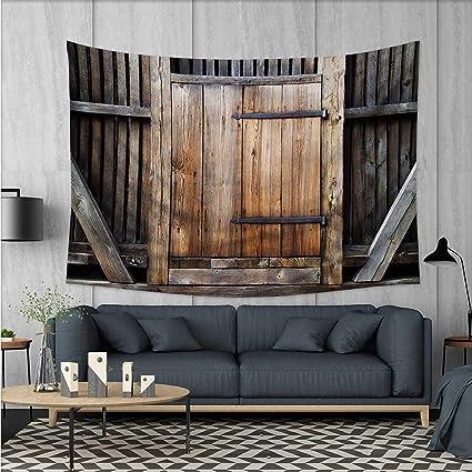 Amazon Antique Wall Tapestry Rustic Antique Wooden Door Delectable Wooden Living Room Exterior