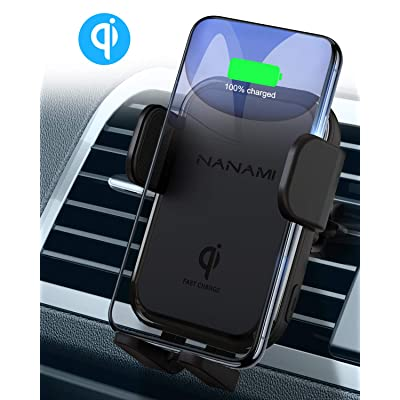 NANAMI Wireless Car Charger,10W Max Fast Charging Car Mount,Air Vent Automatic Clamping Phone Holder,Compatible iPhone SE/11/11 Pro/11 Pro Max/XS Max/XS/XR/X/8 Plus,Samsung S20/S10/S9/S8/Note 10+/9/8: Home Audio & Theater