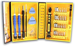 38-piece Precision Screwdriver Set Repair Tool Kit for iPad,iPhone,PC,Watch,Samsung and Other Smartphone Tablet Computer Electronic Devices