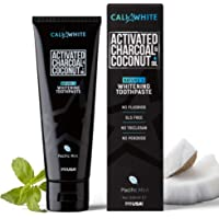 Cali White Activated Charcoal & Organic Coconut Oil Teeth Whitening Toothpaste, 4oz