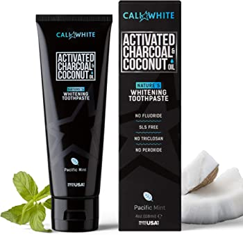Cali White Activated Charcoal & Organic Teeth Whitening Toothpaste
