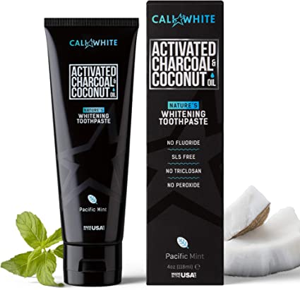Amazon Com Cali White Activated Charcoal Organic Coconut Oil