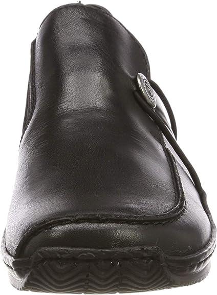 Rieker Damen L1781 01 Obermaterial Leder Slipper