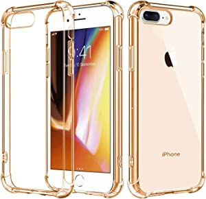 iBarbe Compatible with iPhone 7 Plus Case,iPhone 8 Plus Case, Crystal Clear Slim fit Shock Absorption Bumper Heavy Duty Protection Soft TPU Cover Case for iPhone 7/8 Plus 5.5 Inch