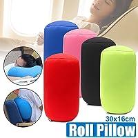 Home Car Seat Head Rest Neck Support Mini Microbead Cushion Roll Pillow 30X16cm
