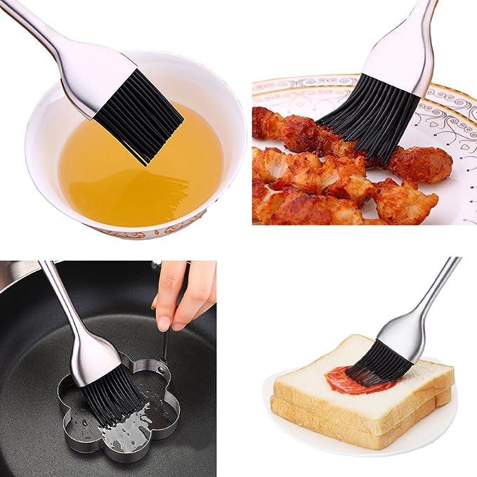 AIYoo - Cepillo de base para barbacoa para hornear y cocinar, cerdas ...