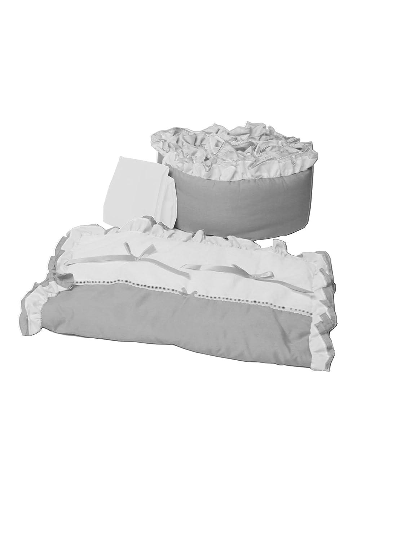 Baby Doll Bedding Regal Cradle Set, Grey by BabyDoll Bedding   B00AN3RTA8