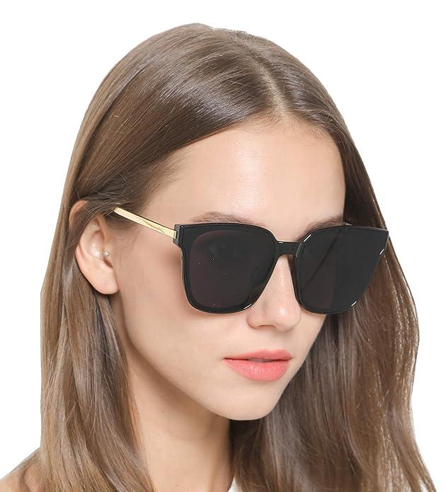 Amazon.com: Gafas de sol cuadradas para hombre y mujer ...