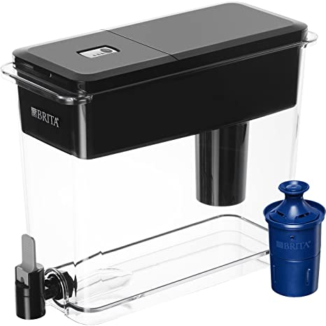 Brita UltraMax Dispenser with Longlast Pitcher Filter, Jet Black