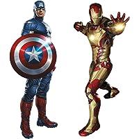 Marvel Superheroes Avengers Comic - Civil Wars - Captain America vs Iron-Man Giant Wall Decal Sticker bundle