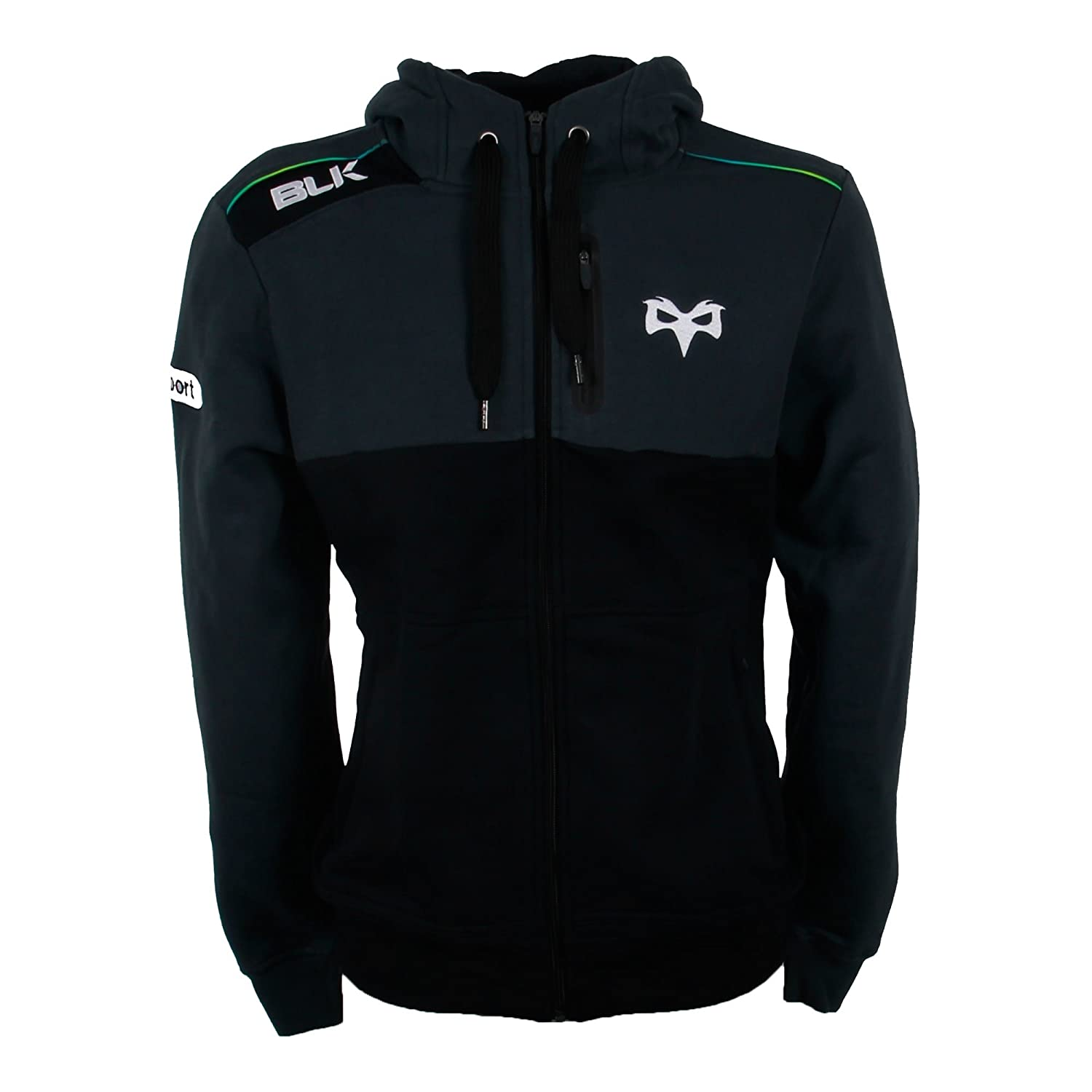 Ospreys Rugby Full Zip Hoody 2016 - Black BLK Sport