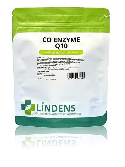 Lindens - Coenzima Q10 30 mg comprimidos - 1000 paquete