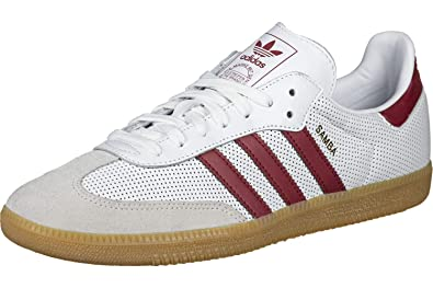 san francisco 839f5 82ecb adidas Originals Samba OG Shoes 11.5 D(M) US FTWR White Collegiate Burgundy  Grey