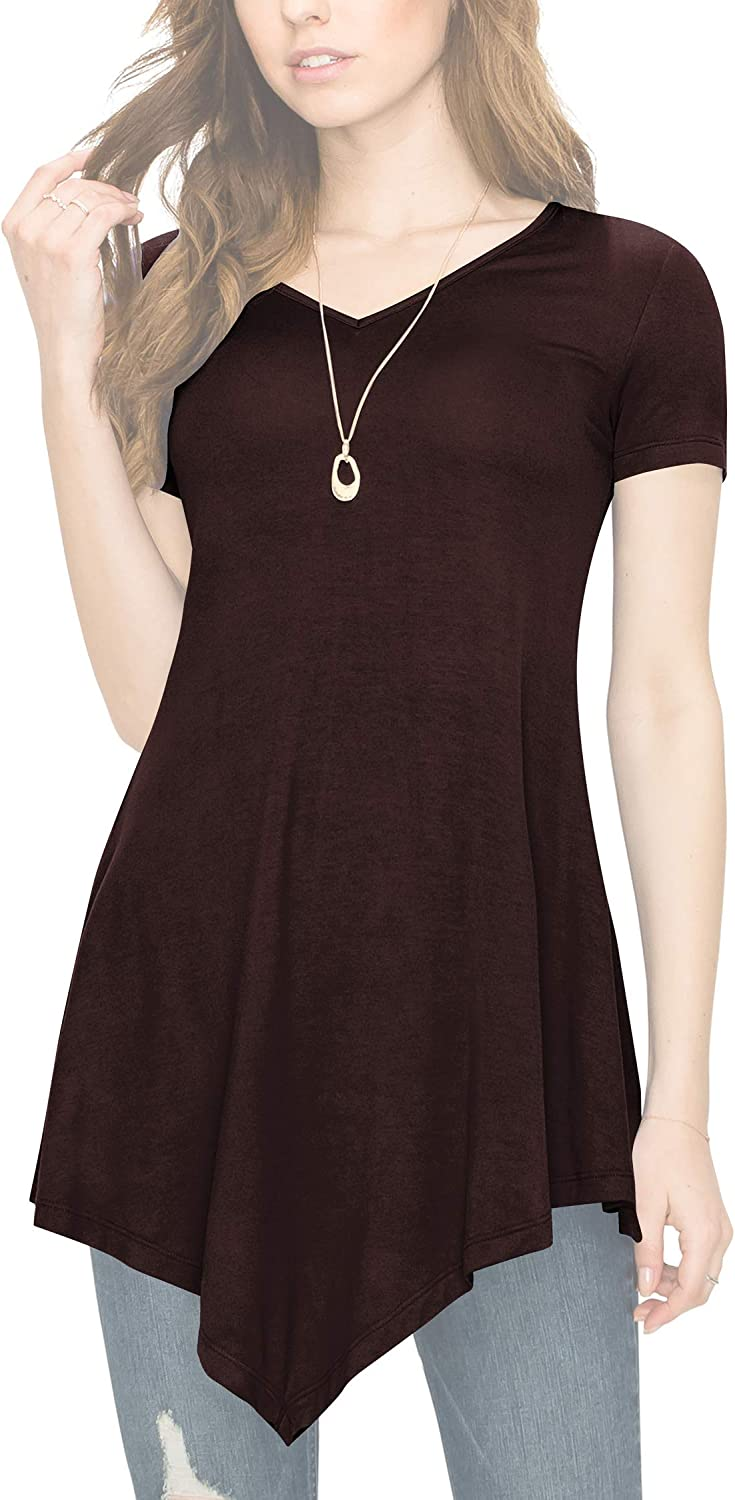 Made in USA MBJ Womens V Neck Trapeze Tunic