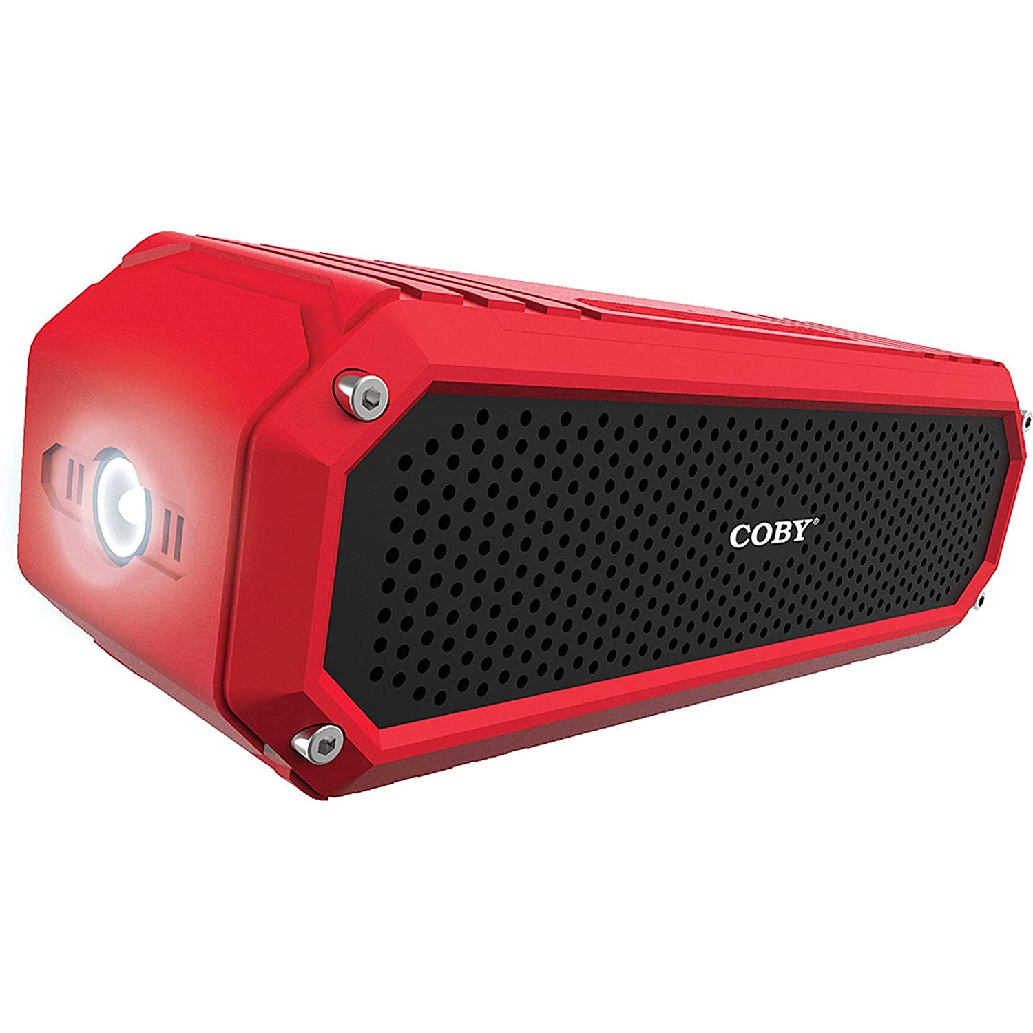 Coby Rugged Water-Resistant IPX5 Portable Bluetooth Speaker - Red