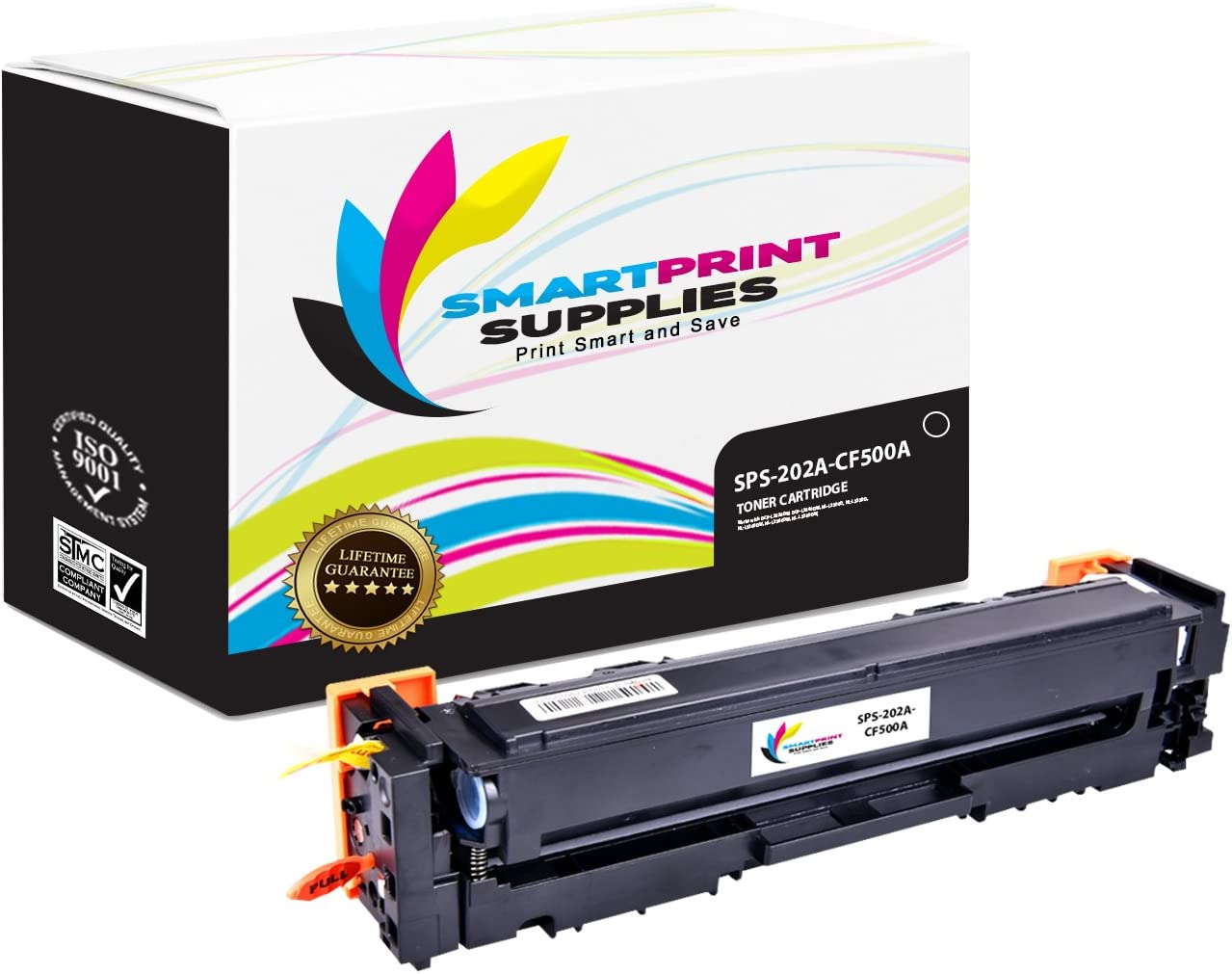 8 Pack Smart Print Supplies Compatible 202A Toner Cartridge Replacement for HP Color Laserjet Pro MFP M280nw M254dw M281fdw Printers CF500A Black, CF501A Cyan, CF502A Magenta, CF503A Yellow