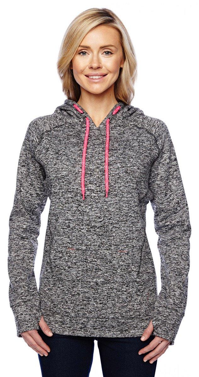 J. America Ladies pullover hooded sweatshirt Top of the World 8616-P