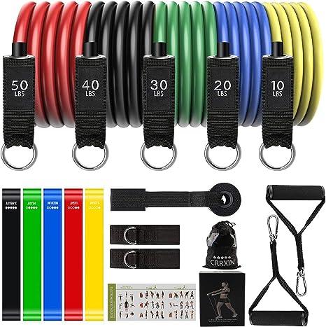 6PCS Gummiband Fitnessbänder Resistance Band Fitnessband Widerstandsbänder Set
