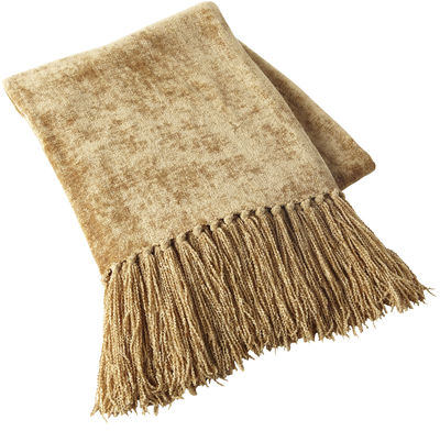 Chenille Throw - Gold | Pier 1 Imports