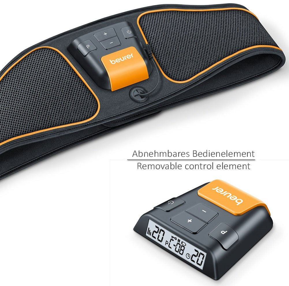 Beurer EM37 Abdominal EMS Toning Belt with 4 Electrodes, Black - One Size   Amazon.co.uk  Health   Personal Care 857e05f3fe8