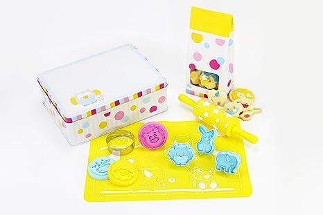 kullaloo Set para hacer galletas, set para niños, incluye moldes, cortapastas, rodillos