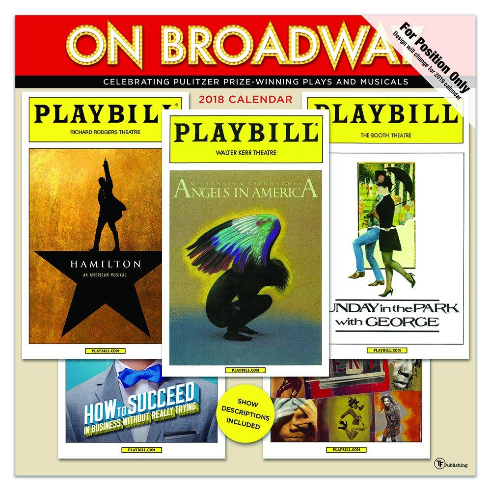 Time Factory On Broadway 12'' x 12'' January -December 2019 Wall Calendar (19-1056)