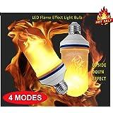 🔥 4MODES 🔥 LED Flame Effect Light Bulb, E26 LED Flickering Flame Bulbs, 105pcs 2835 LED Simulated Decorative Atmosphere Lighting Vintage Flaming Light Bulb. Led Flaming Bulb