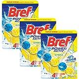 Bref WC Power Activ Citron 50 g - Blocs Nettoyants WC - Lot de 3
