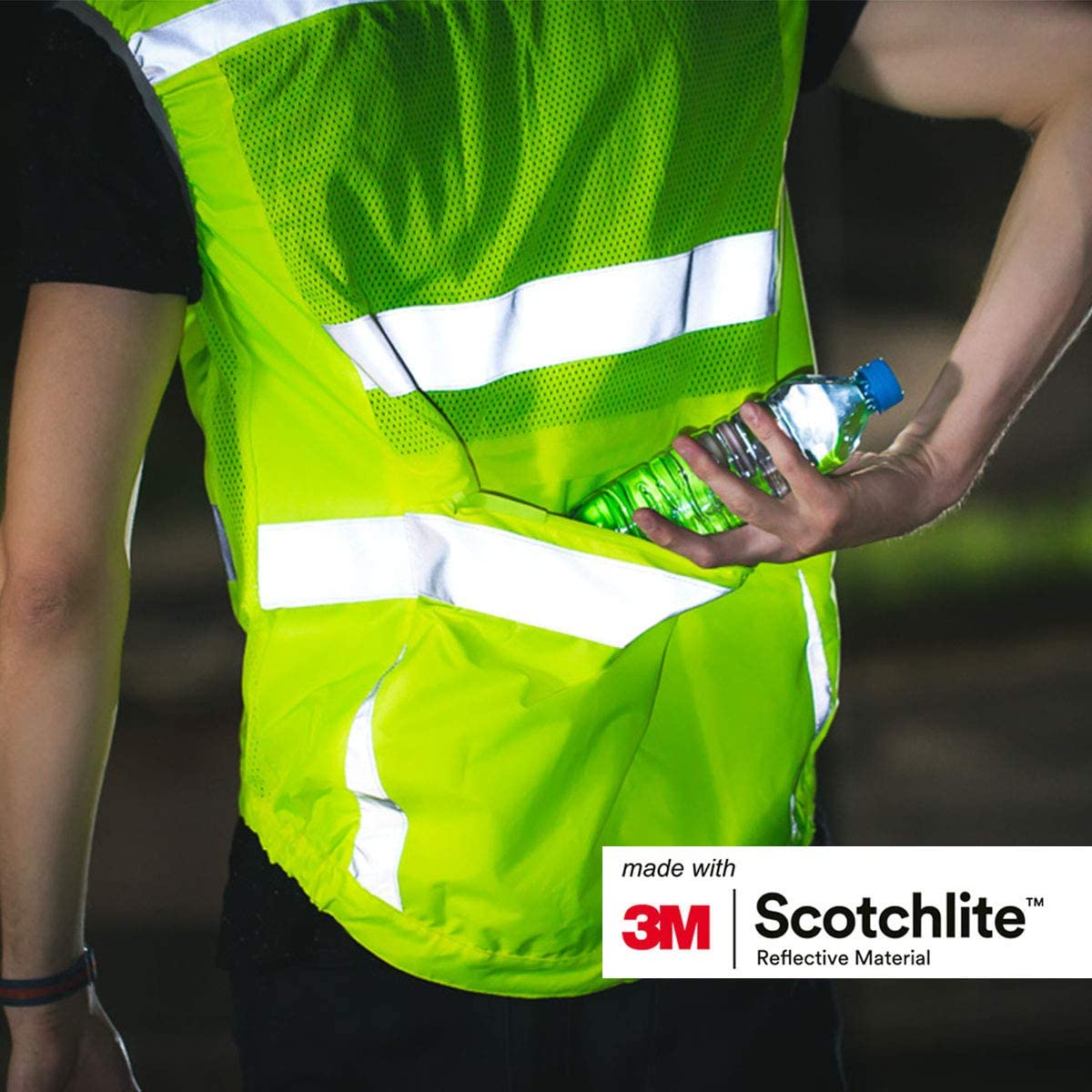 Salzmann 3M Reflective Vest High Visibility Cross Belt with Adjustable Straps Running and Other Outdoor Activities Made with 3M Scotchlite Ideal for Cycling