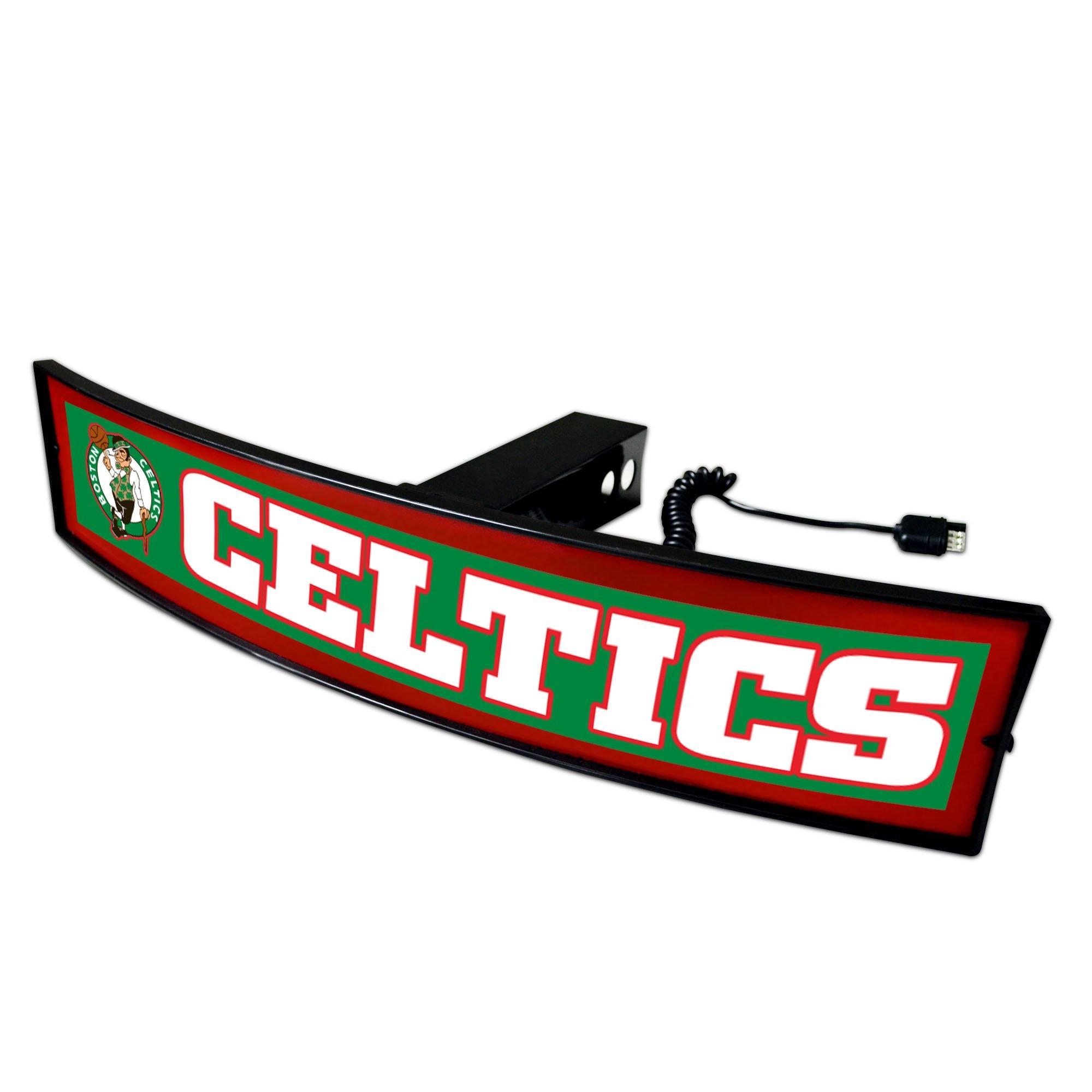 CC Sports Decor NBA - Boston Celtics Light Up Hitch Cover - 21''x9.5''