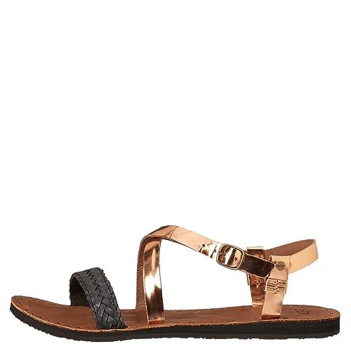 c4c188732fc UGG Australia Jordyne Braided Leather Sandals (5, Rose Gold): Amazon ...