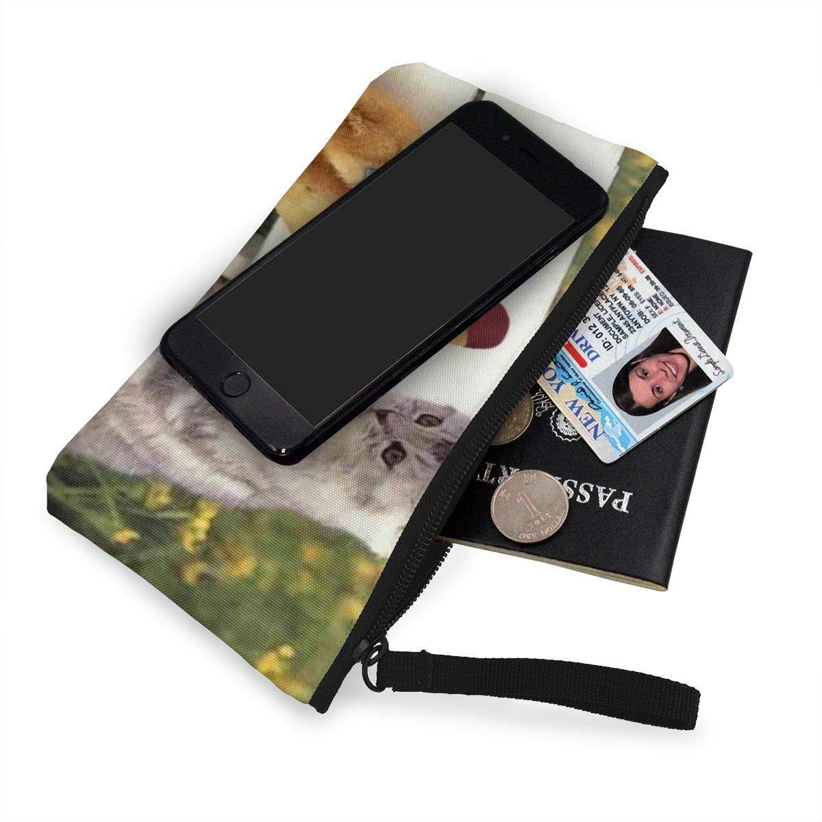 Coin Purse Funny Ducklings Cute Cat Womens Zipper Canvas Purse Wallet TravelMarvellous Holder