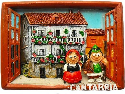 Pegatina 3D Cantabria España Imán de nevera para recuerdo, hecha a mano en España para decoración de hogar y cocina, imán para nevera: Amazon.es: Hogar
