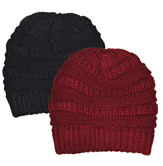 490f5ce974400 Chunky Cable Knit Slouchy Beanie