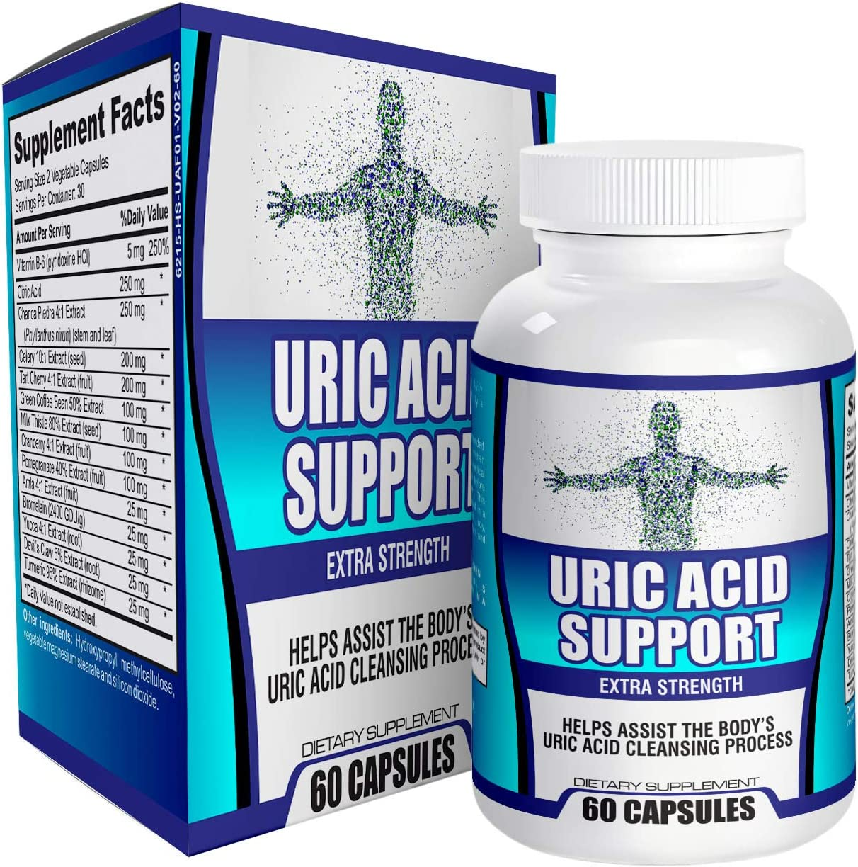 Natural Uric Acid Support Supplement Cleanse Flush Reducer – Supplements – 60 Capsules
