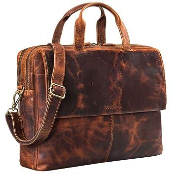 87c422b68e STILORD 'Jasper' Besace Bandoulière pour Homme Cuir Sac Business XL pour PC  Portable 15
