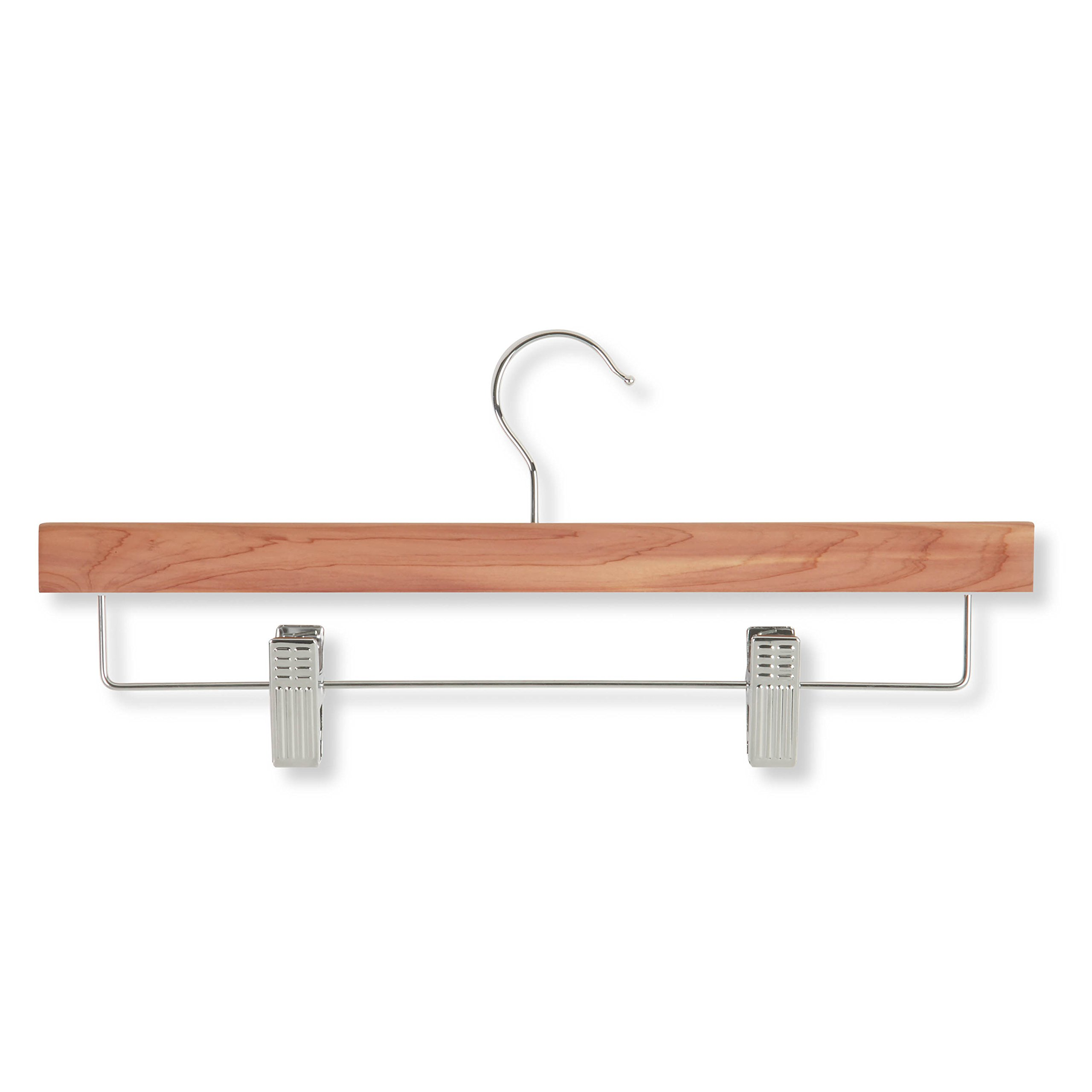 Honey-Can-Do HNGZ01535 Skirt/Pant Hangers with Clips, Cedar, 8-Pack by Honey-Can-Do